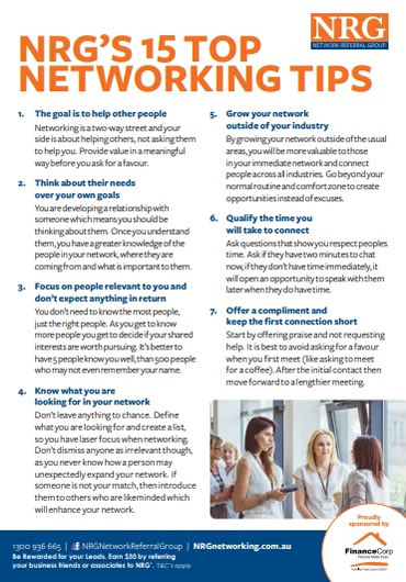 NRG's 15 Top Networking Tips