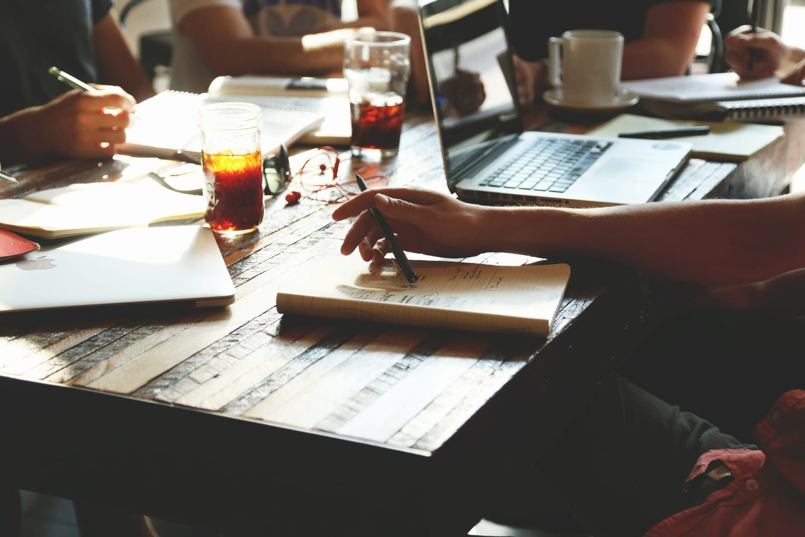 startup employees working
